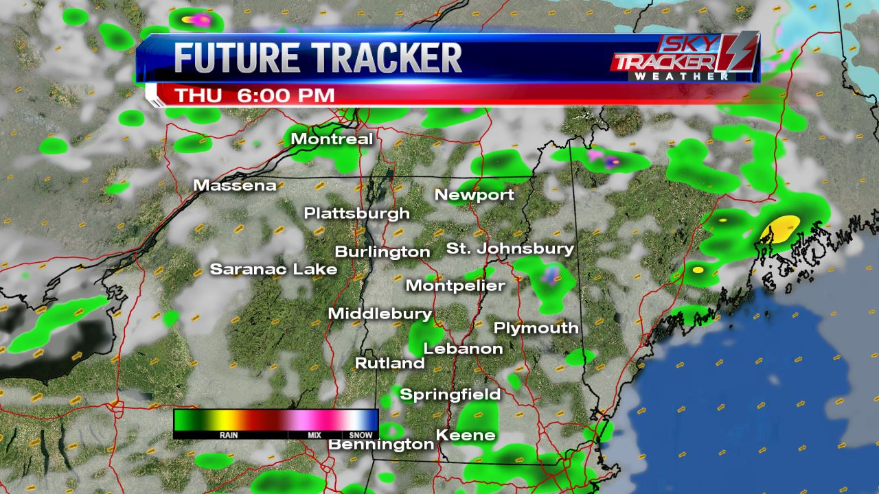 Scattered Showers Thursday Afternoon