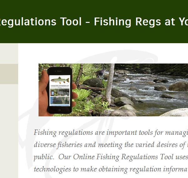 VT Online Fishing Regulation Tool