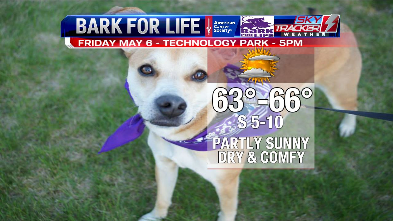 Bark for Life Official Forecast as of May 5 2016