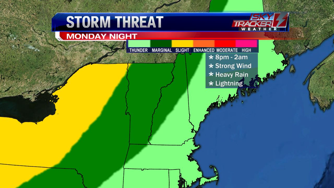Storm Threat for Monday June 20 2016