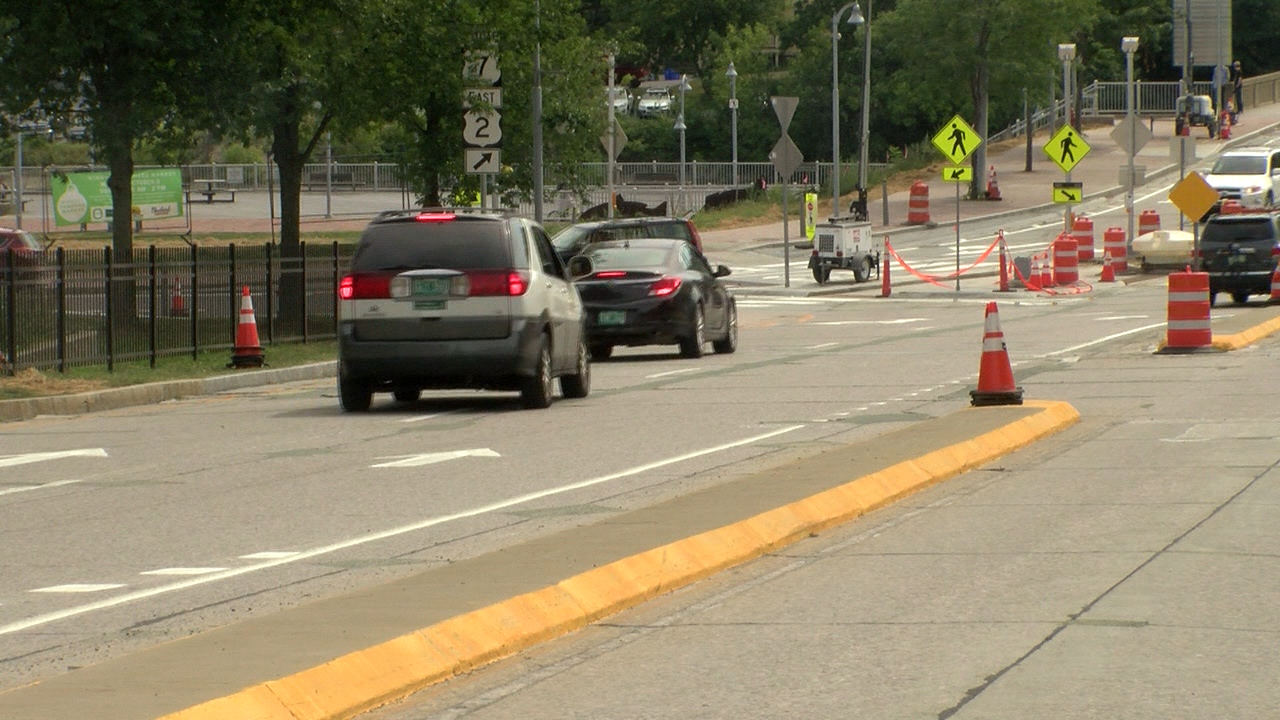 Construction on Winooski Circle nearly complete
