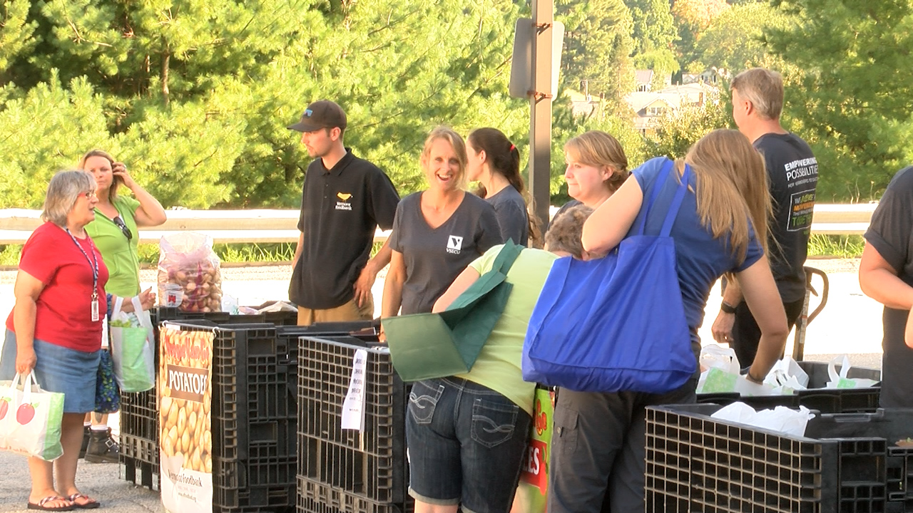 Vermont Food Bank delivers produce to school for students and staff