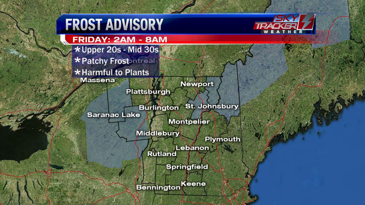 Frost Advisory Friday September 16 2am to 8am