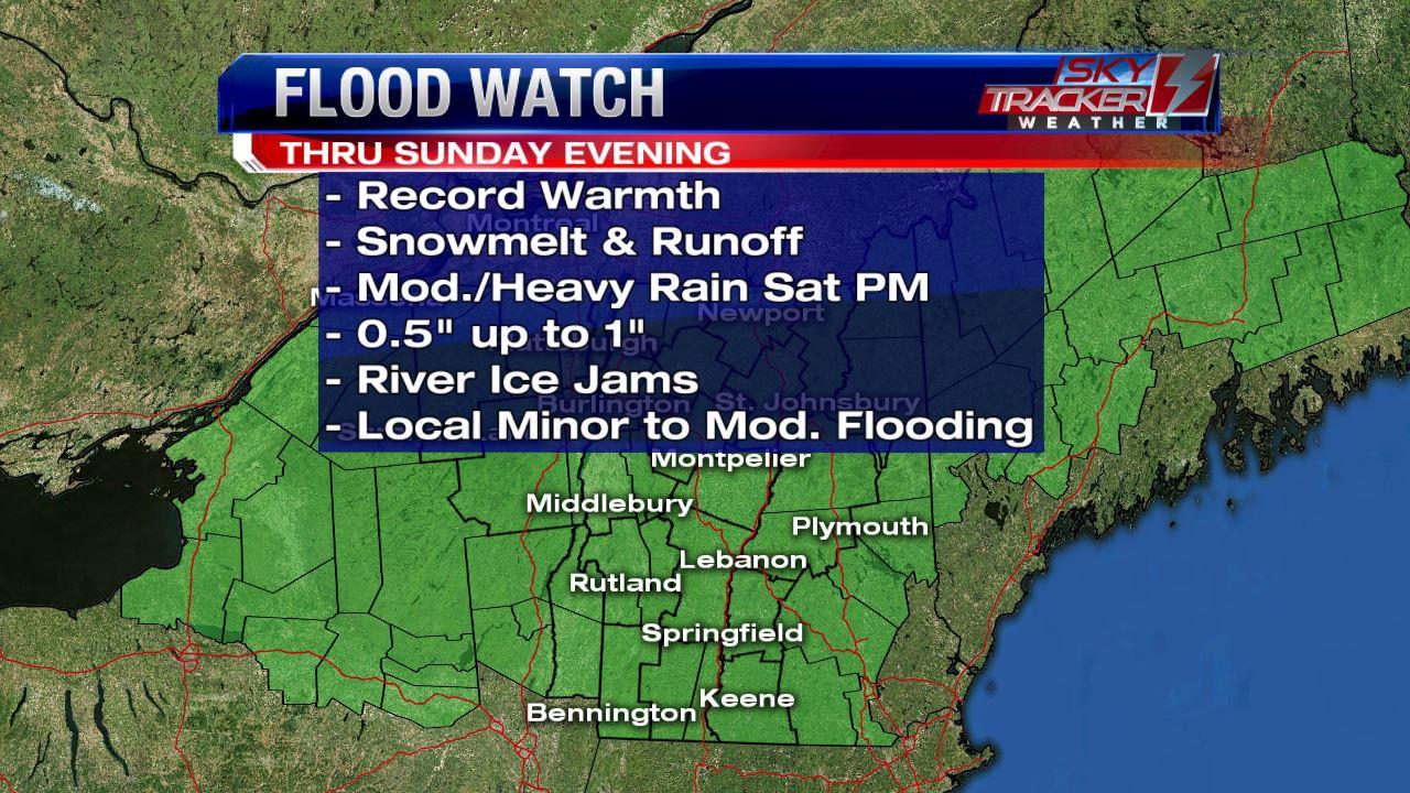 Flood Watch thru 7pm Sunday Evening February 26 2017