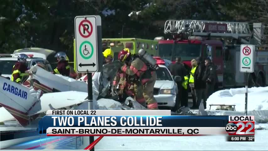 Two Planes Collide in Canada
