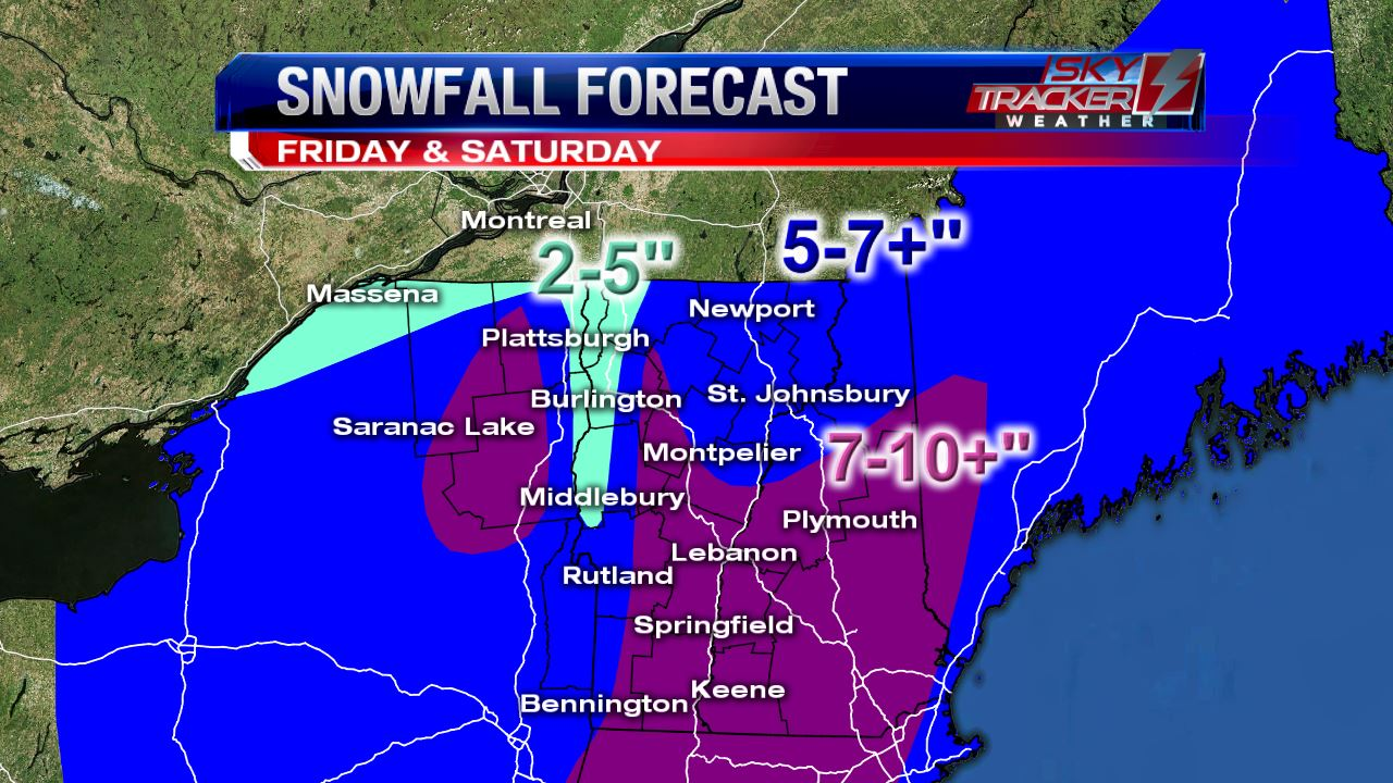 Snowfall Forecast as of March 30 2017