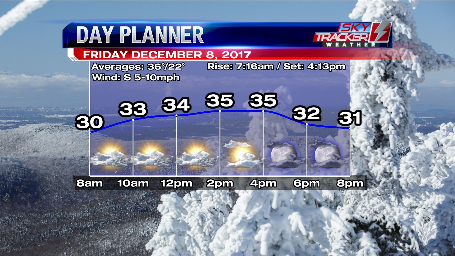 Planner for Friday December 8 2017