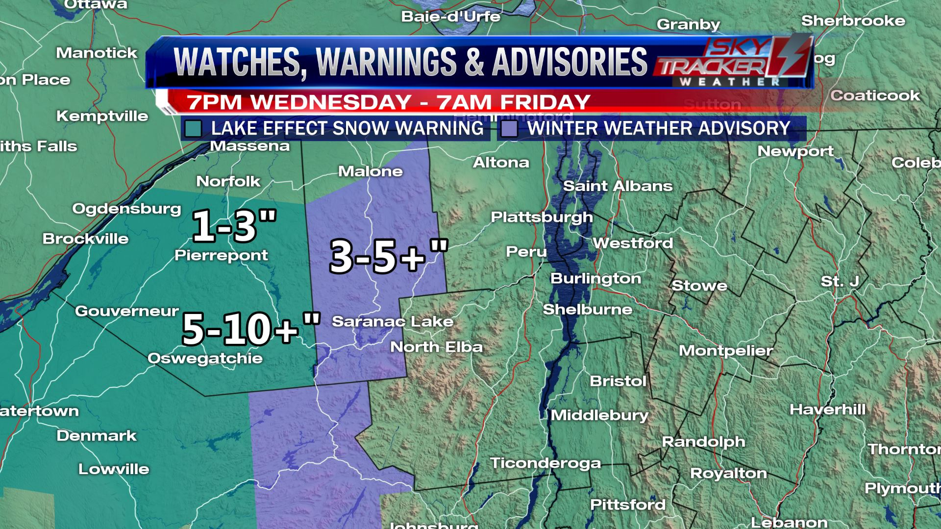 Watches Warnings and Advisories December 6 and 7 2017