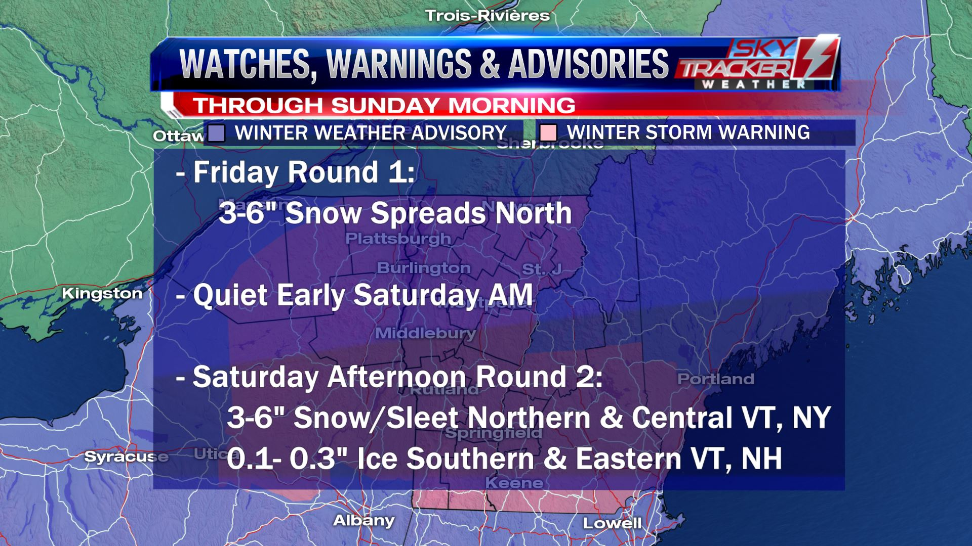 Two Rounds Wintry Weather