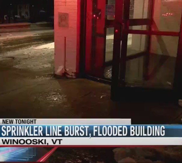 Crews handling burst pipe in Winooski