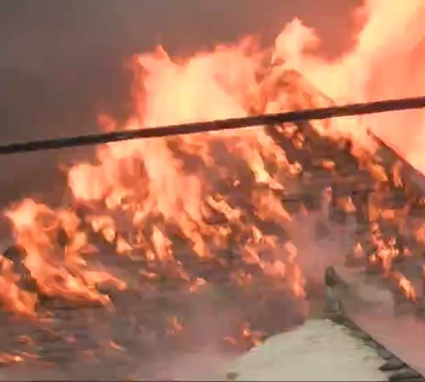 Plattsburgh firefighters battle flames and cold