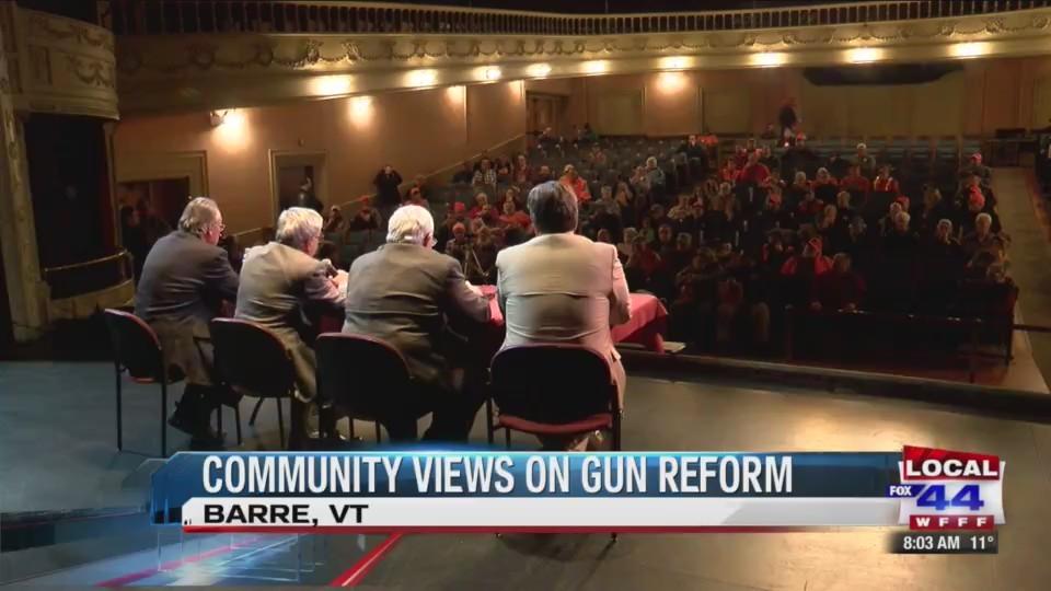 Vt. state representatives hear community views on gun control, reform