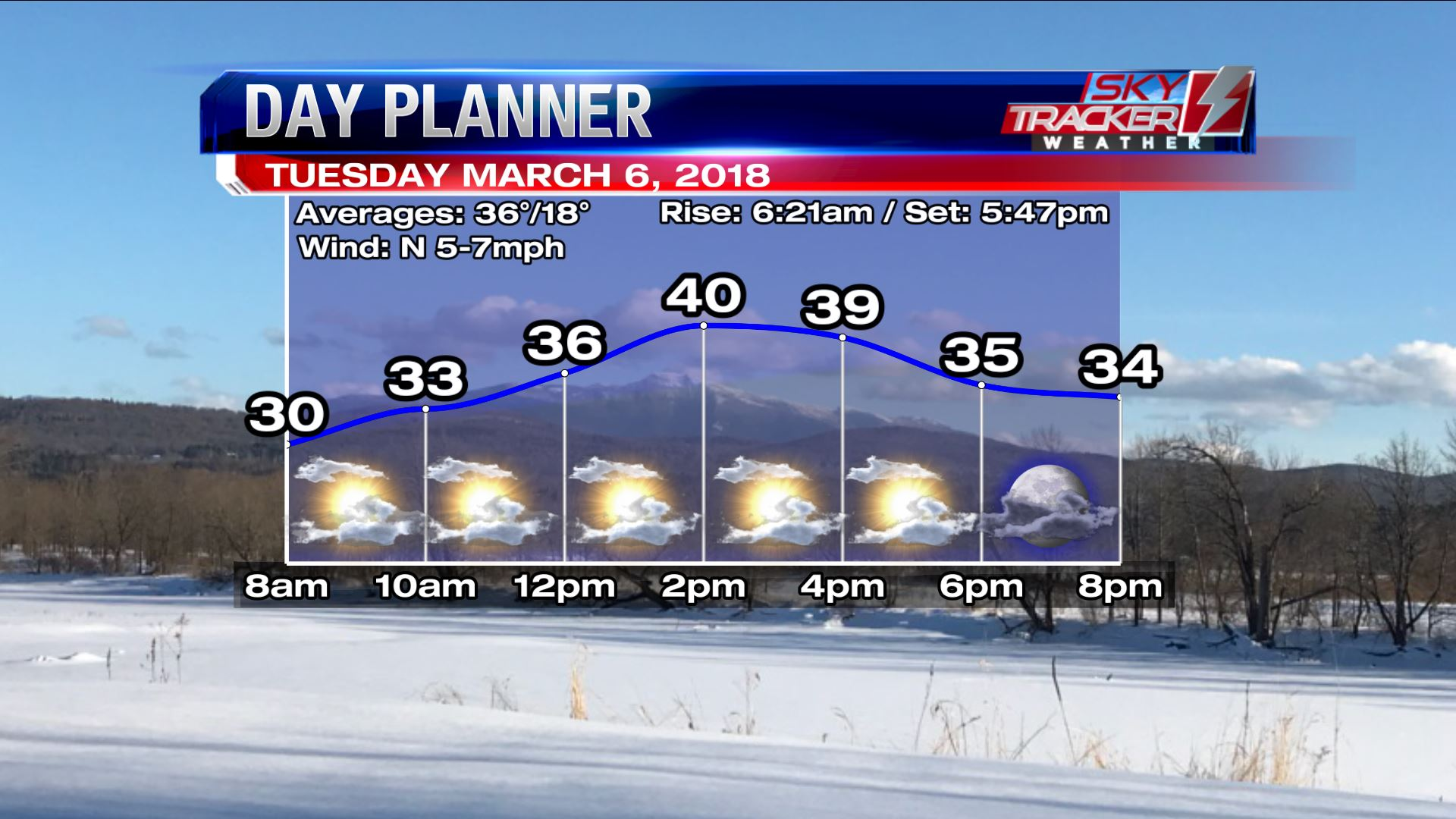 Planner for Tuesday March 6 2018