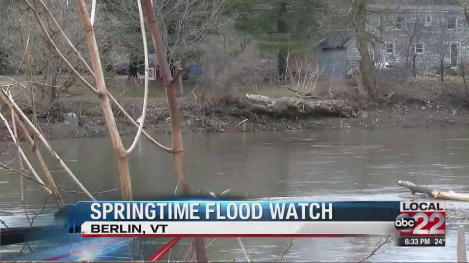Flood watch goes into effect Monday, Berlin resident hopes for the best