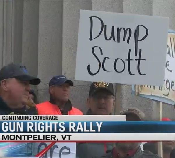 Gun rights rally following new VT gun laws