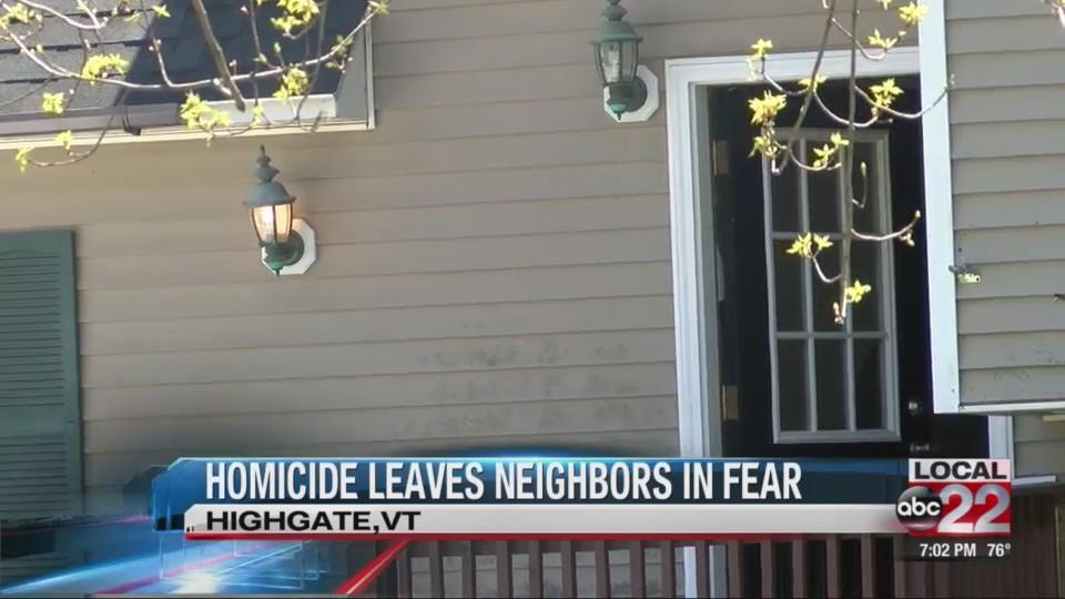 Homicide leaves neighbors in fear