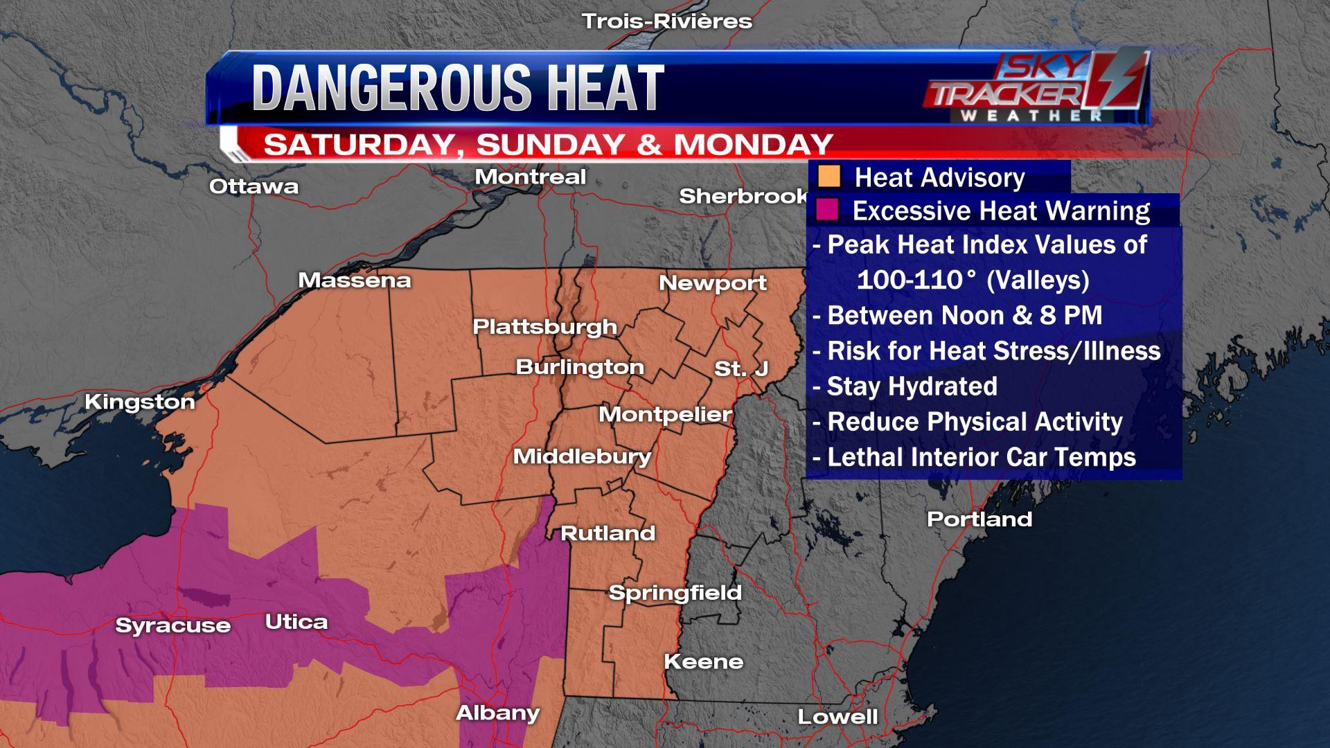 Heat warnings & advisories as of June 29 2018