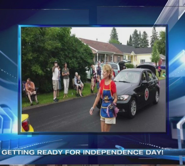 Getting ready for Independence Day with the Colchester-Milton Rotary Club