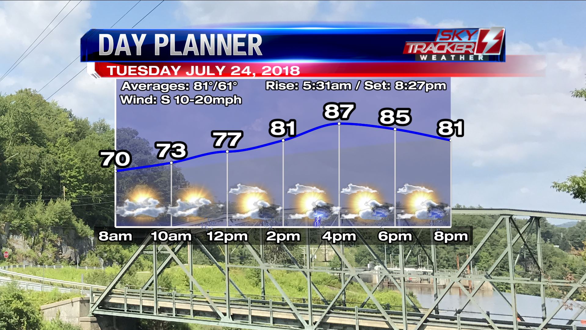 Planner for Tuesday July 24 2018