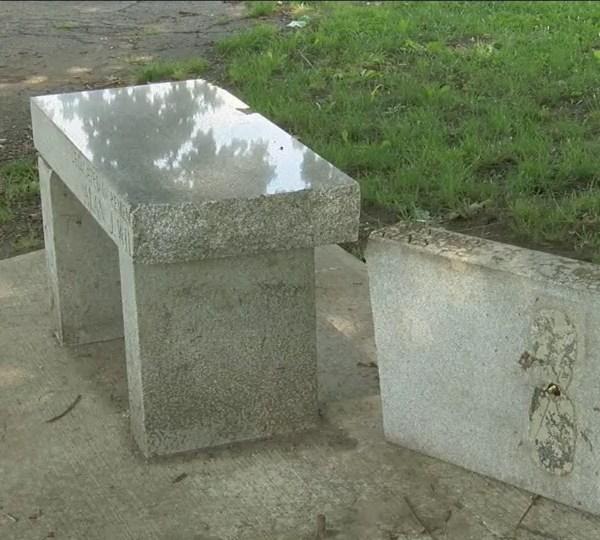 Bench honoring veteran vandalized