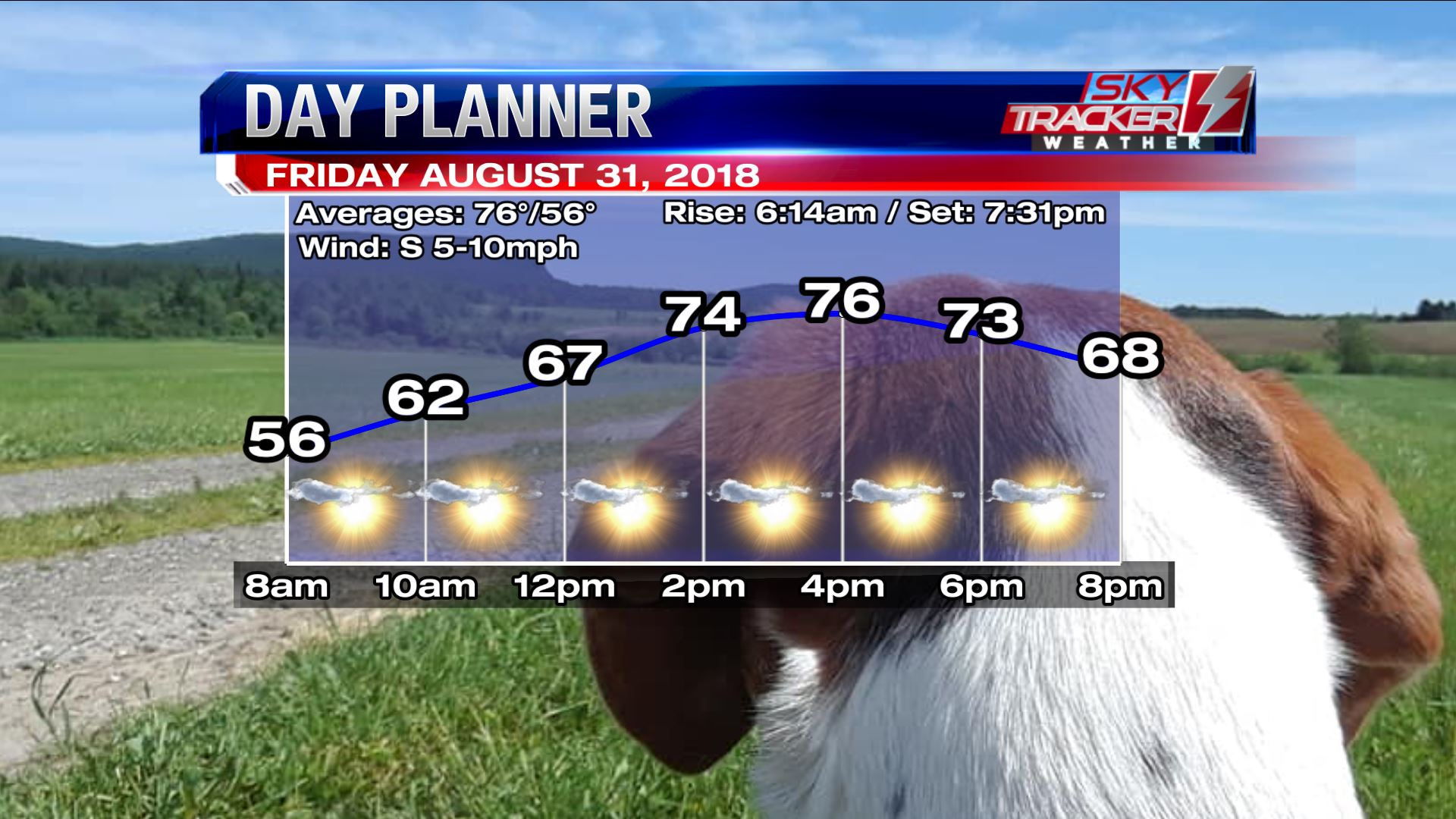 Planner for Friday August 31 2018