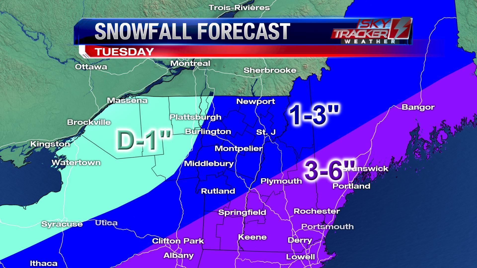 Tuesday November 20th Snowfall