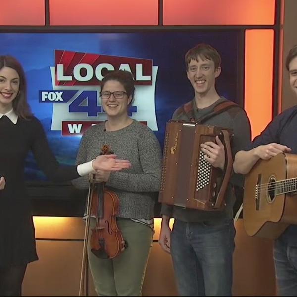 The traditional music trio Nova stops by on their New England tour