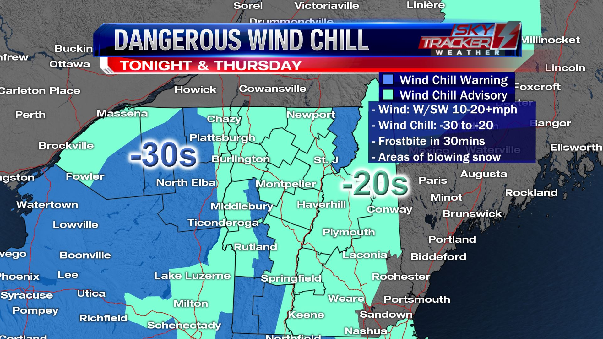 Dangerous wind chills January 30 & 31 2019