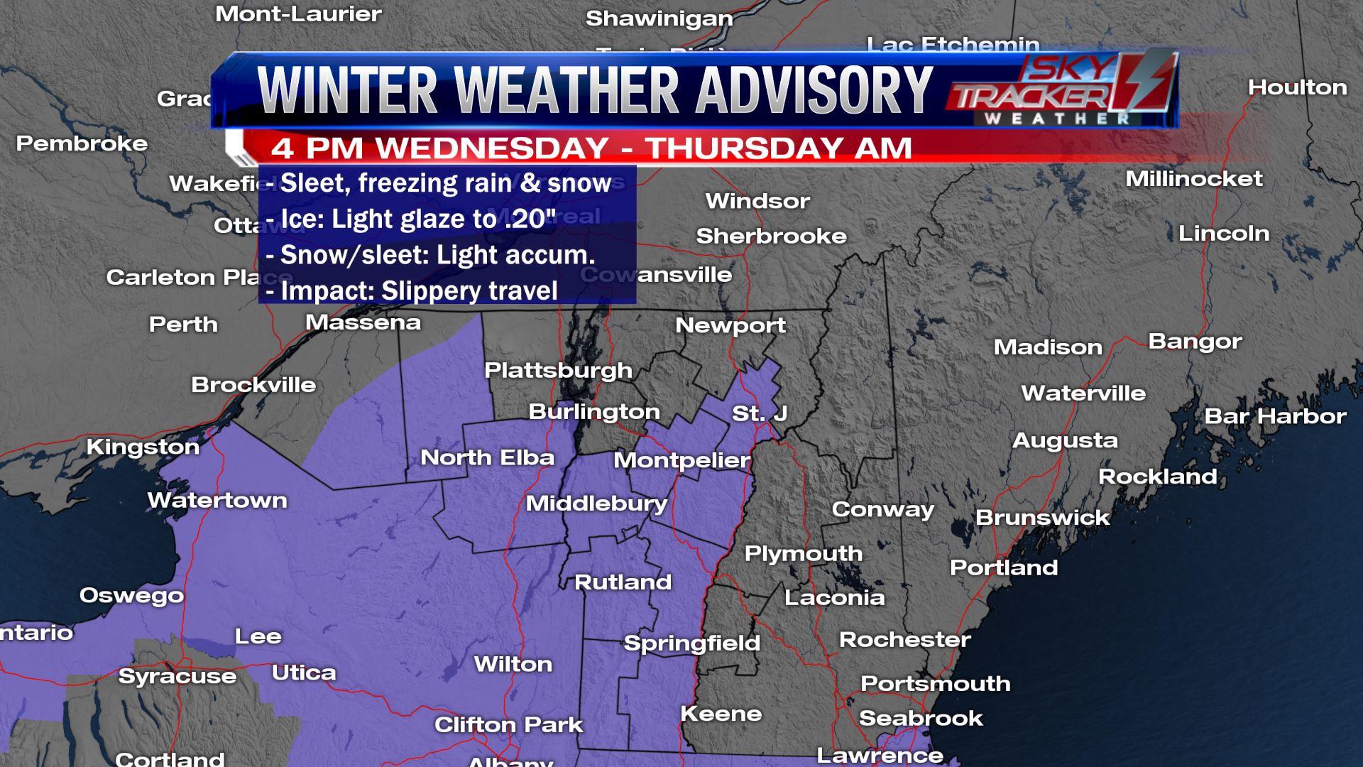 Winter Weather Advisory Feb 6 2019