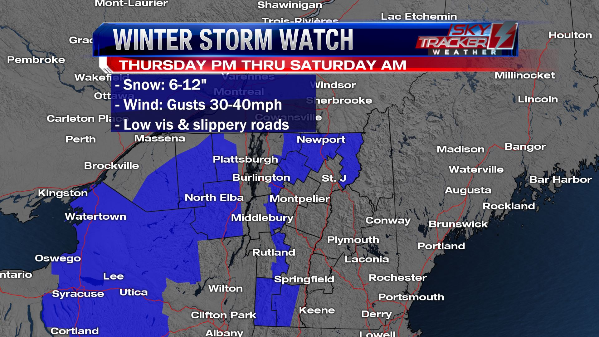 Winter Storm Watch March 21 - 23 2019