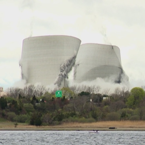 Crowds gather for Brayton Point Tower Implosions