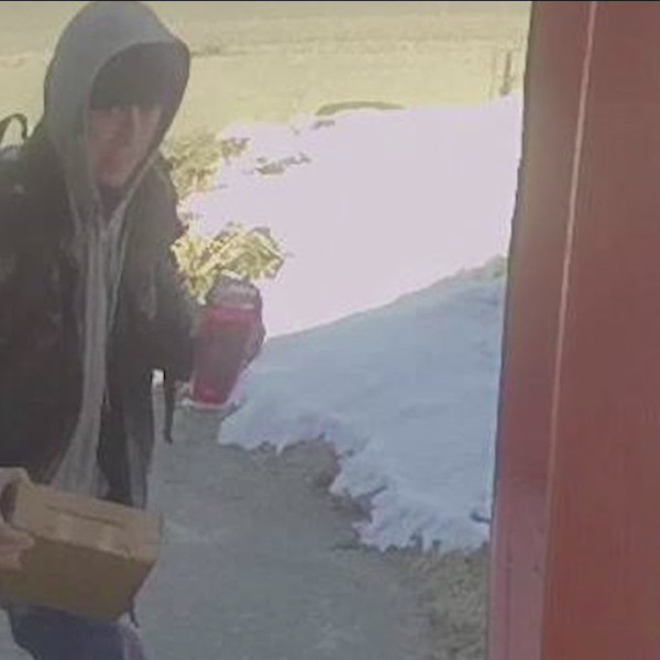 Security footage: Porch pirate hits Winooski home