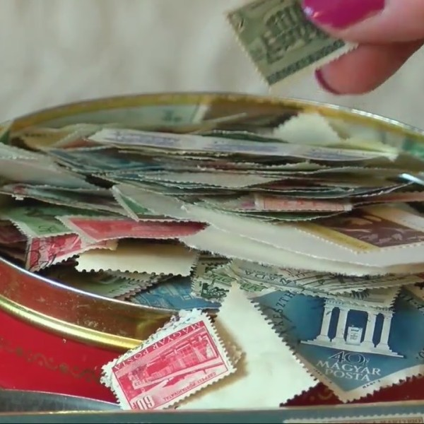 Winooski woman finds late grandfather's stamp collection