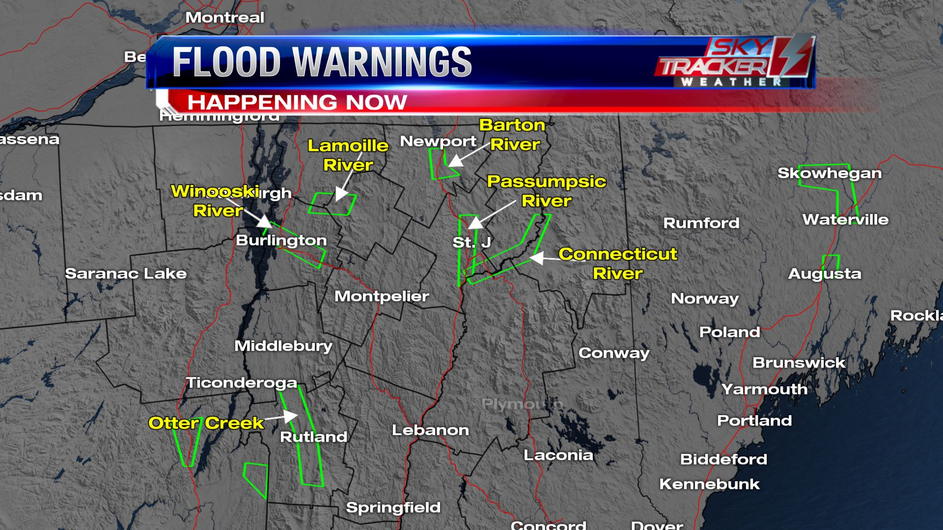 Flood warnings as of 1130pm April 15 2019