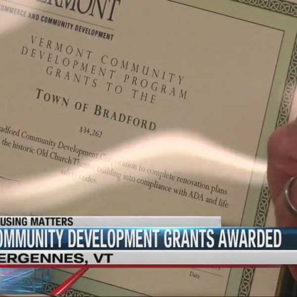 $2.8 million in community-development grants awarded in Vermont