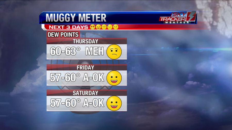 Muggy Meter June 27 - 29 2019