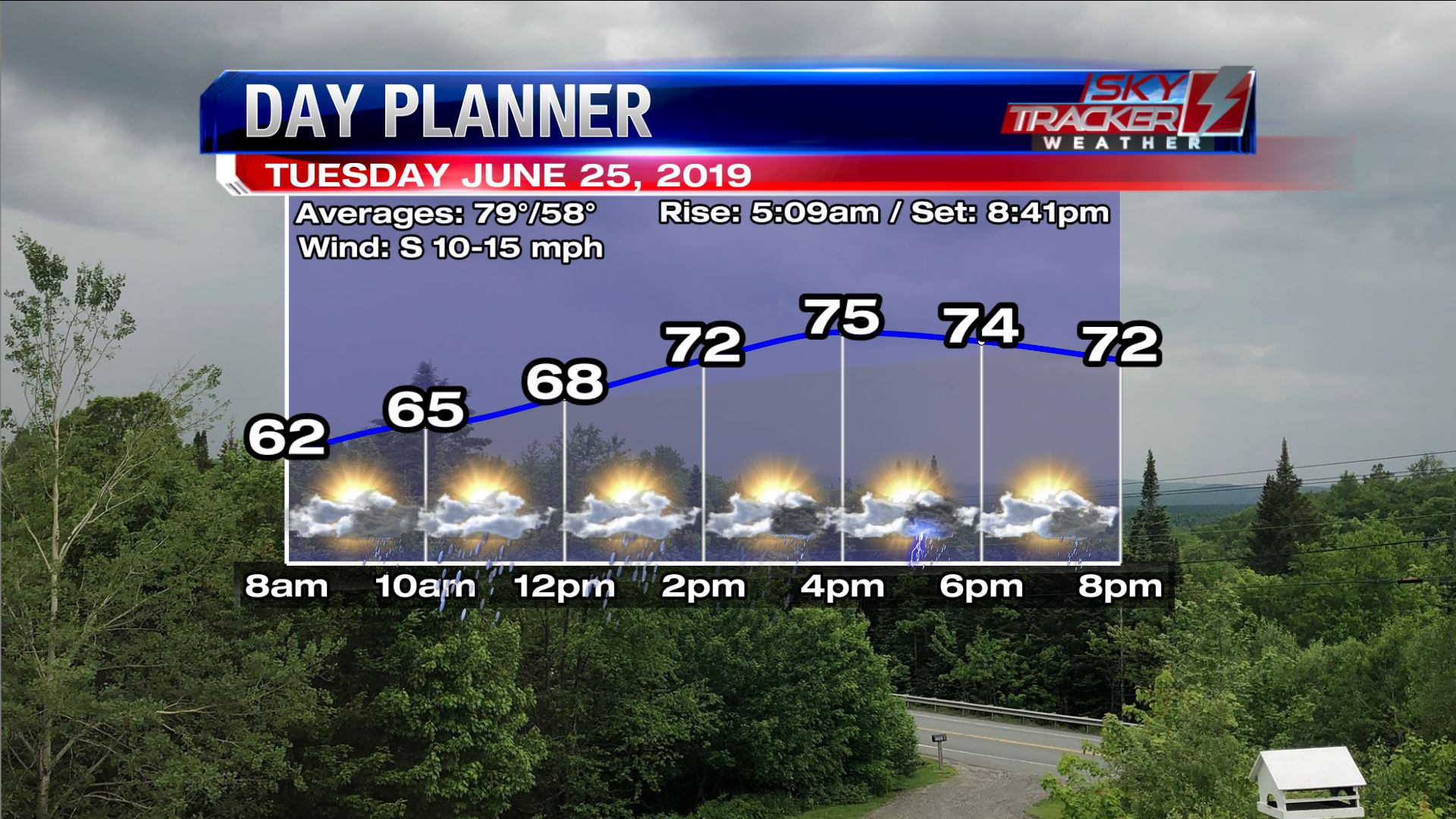 Planner for Tuesday June 25 2019