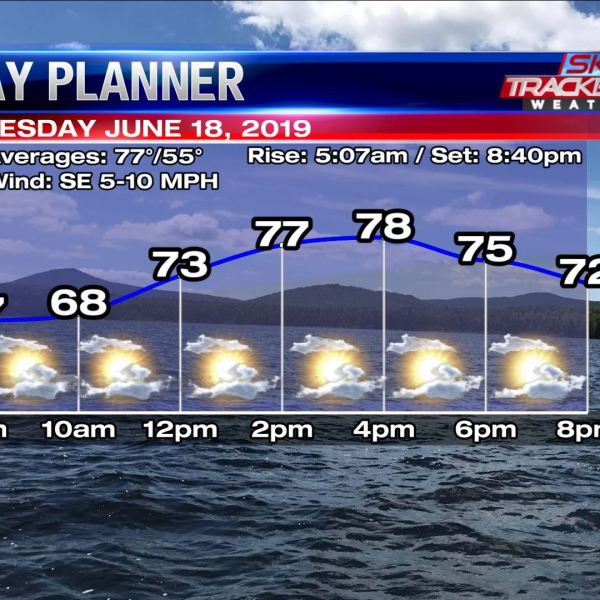 Planner for Tuesday June 18 2019