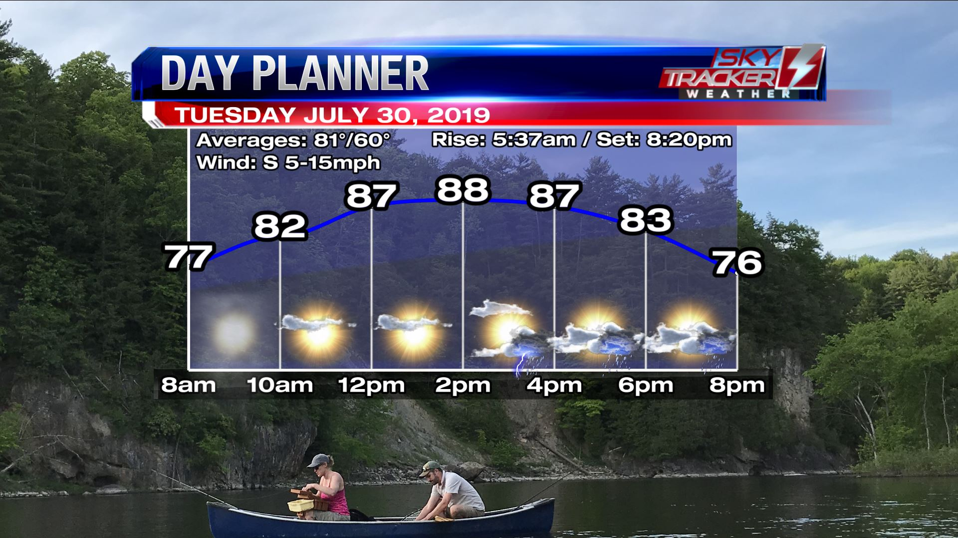 Planner for Tuesday July 30 2019
