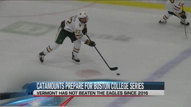 UVM men's hockey prepares for Boston College series