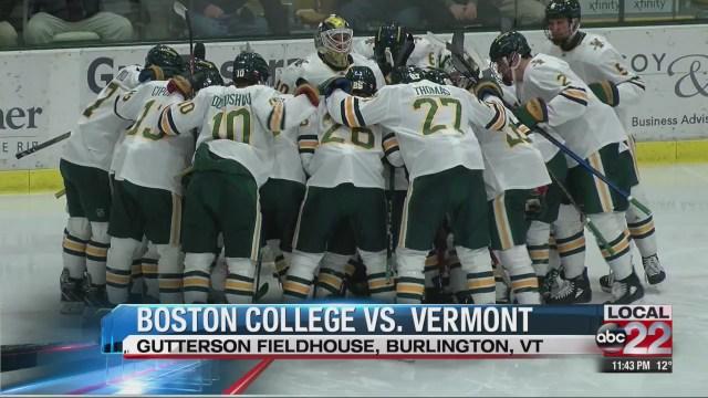 Boston College sweeps UVM