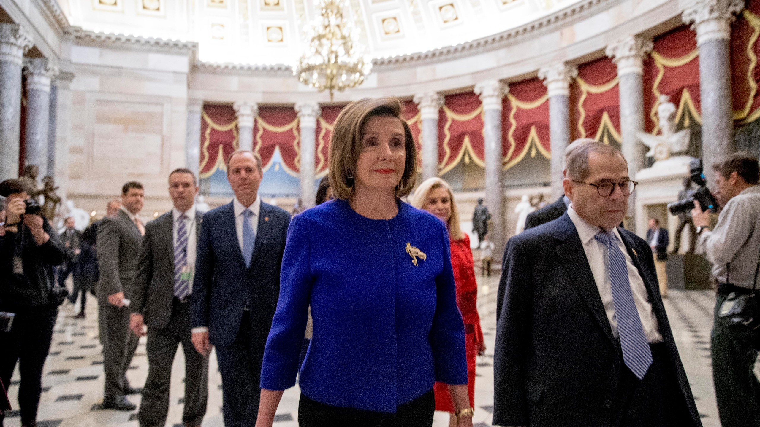 Jerrold Nadler, Adam Schiff, Carolyn Maloney, Nancy Pelosi
