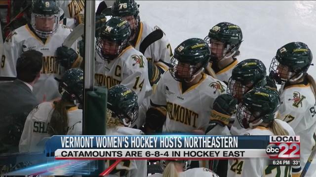 Vermont women's hockey will host Northeastern this weekend