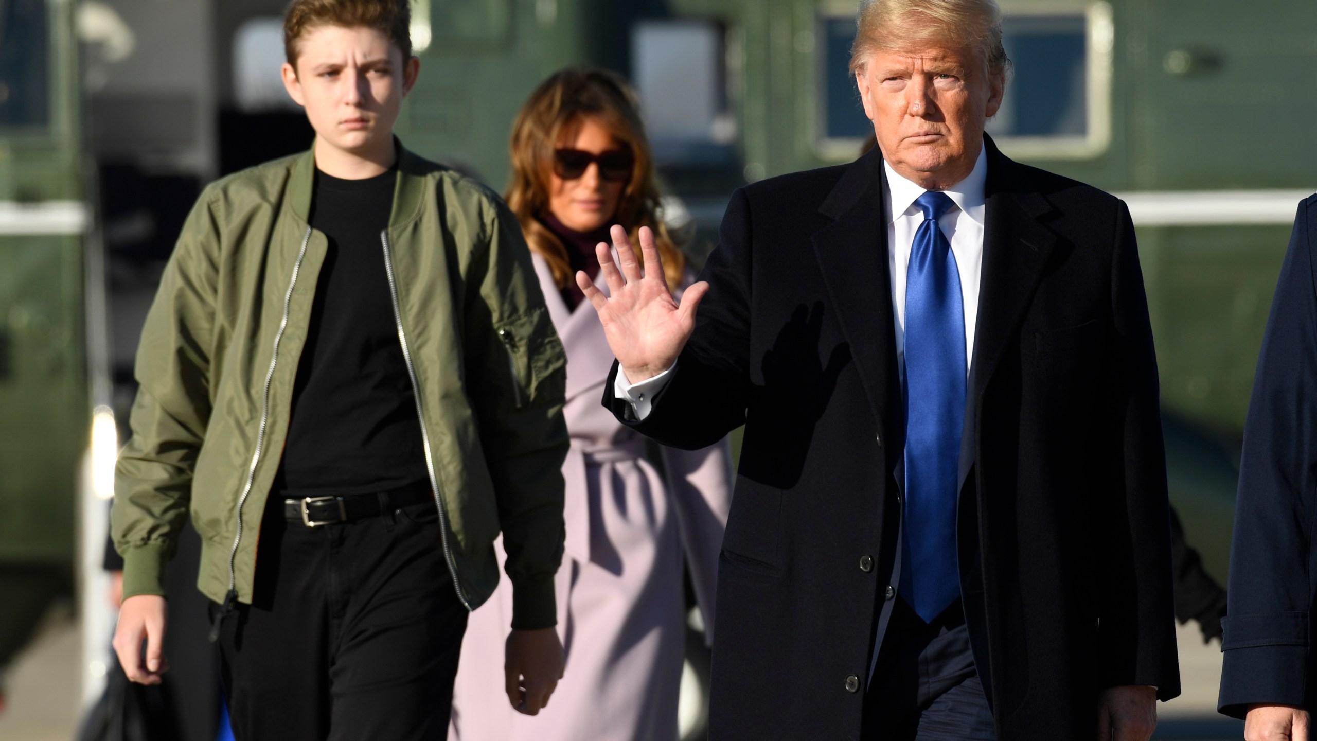 Donald Trump, Melania Trump, Barron Trump