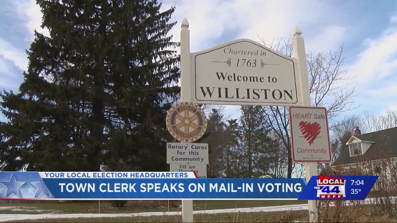 Williston town clerk is excited about mail-in ballots ...