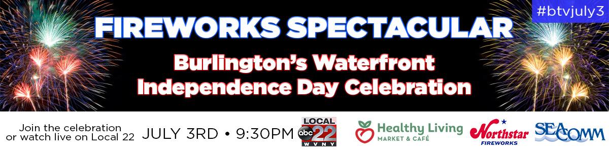 July 3rd Burlington Fireworks